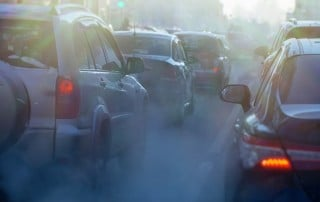 Sitting in traffice with smog coming from cars. Is your daily commute causing you sleep apnea?