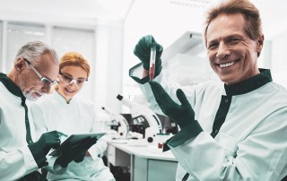 Researchers working in a lab, testing our the Williams-Beuren Syndrome?