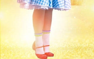 Ruby slippers clicking together